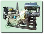 Китайский компрессор BDW 8/2 с дизельным двигателем