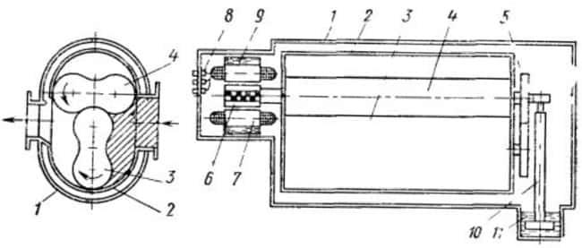 Схема герметичного вакуум-насоса